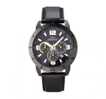 Luca Maranello VOLANO Leather Chronograph Black / Black G4905A